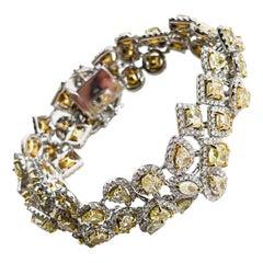 18KTT D-34.60TW FLY SI2-I1 FC-25.60 SD-9.00 Natural Diamond Bracelet