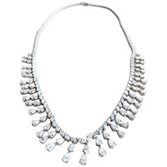 18KW D-19.20 G-H SI1-SI2 Natural Diamond Necklace
