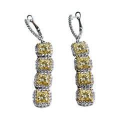 18KW D-7.15 FY SI1-SI2 Natural Diamond Earring