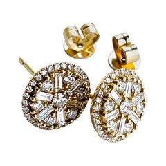 18KY D-1.27 G-H SI1-SI2 Natural Diamond Earring