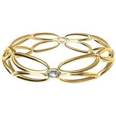 18ky Diamond Arabesque Wings Bangle