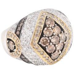 18ky Diamond Dome Ring