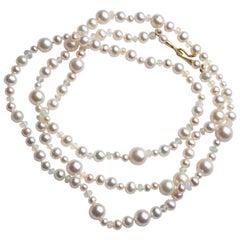 18ky Freshwater Bracelet Similar to Necklace Shown