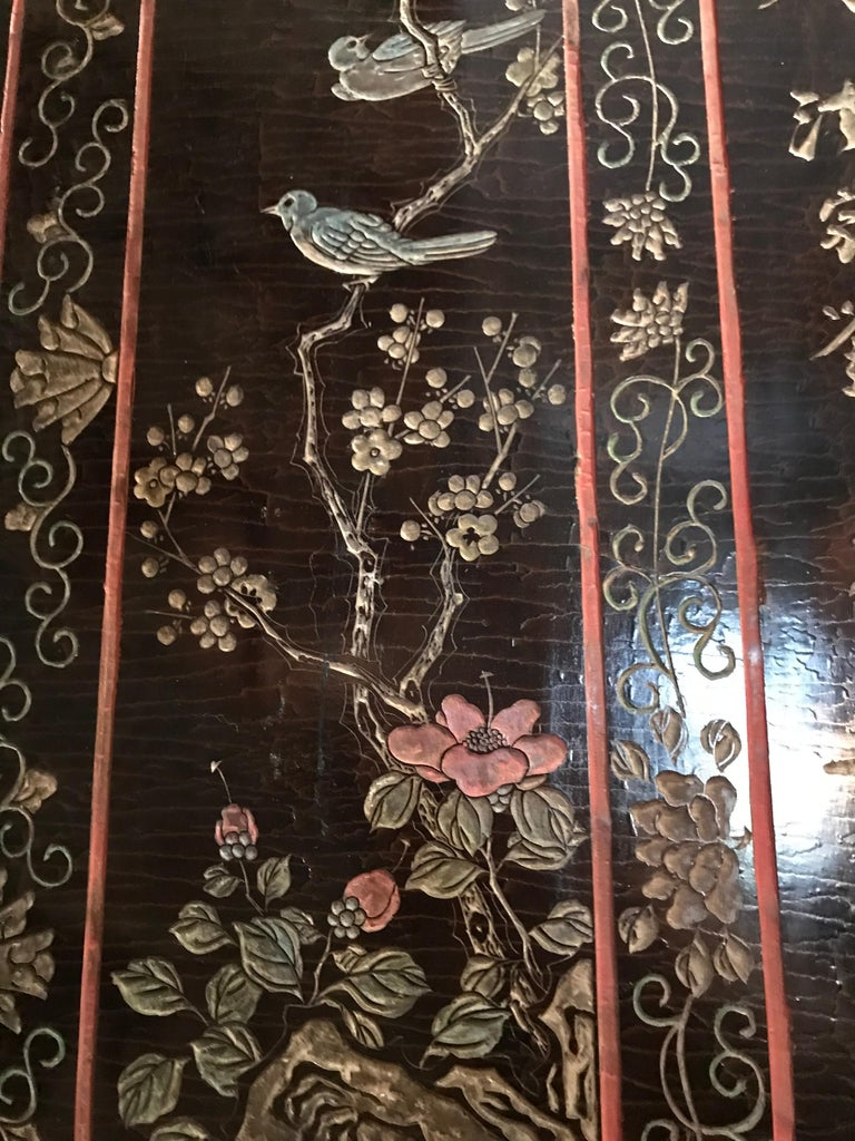 12-Panel Coromandel Chinese Screen Wall Art Backdrop Wall Mount Panels carved LA For Sale 4