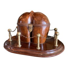 18th-19th Century Fruit Wood Coco Georgian to Victorian Tea Caddy Centerpiece
