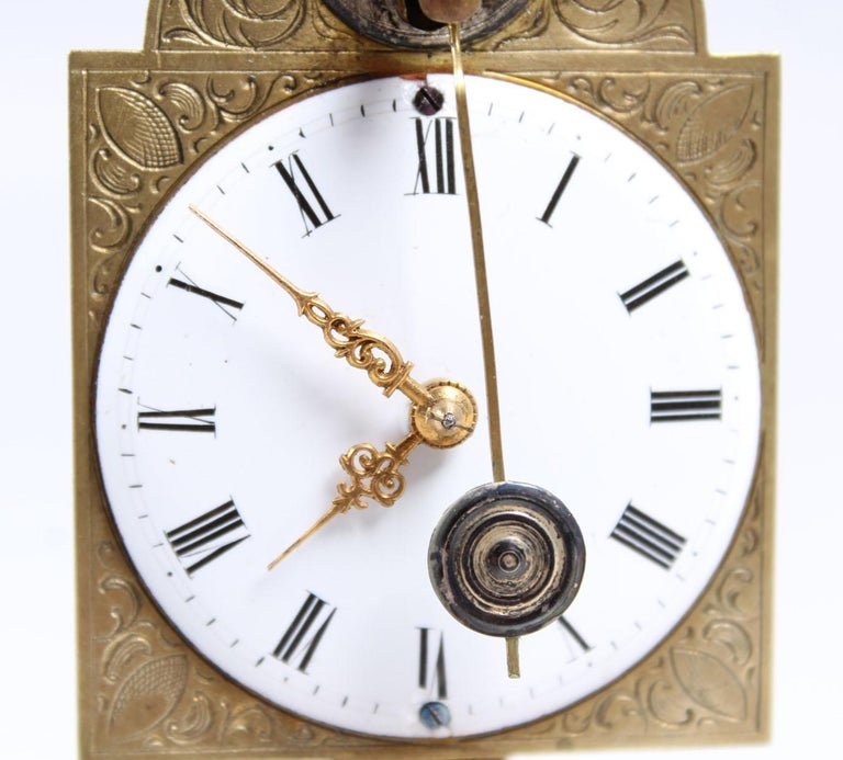 18th-19th Century Antique Saw Clock, Southern Germany For Sale 3