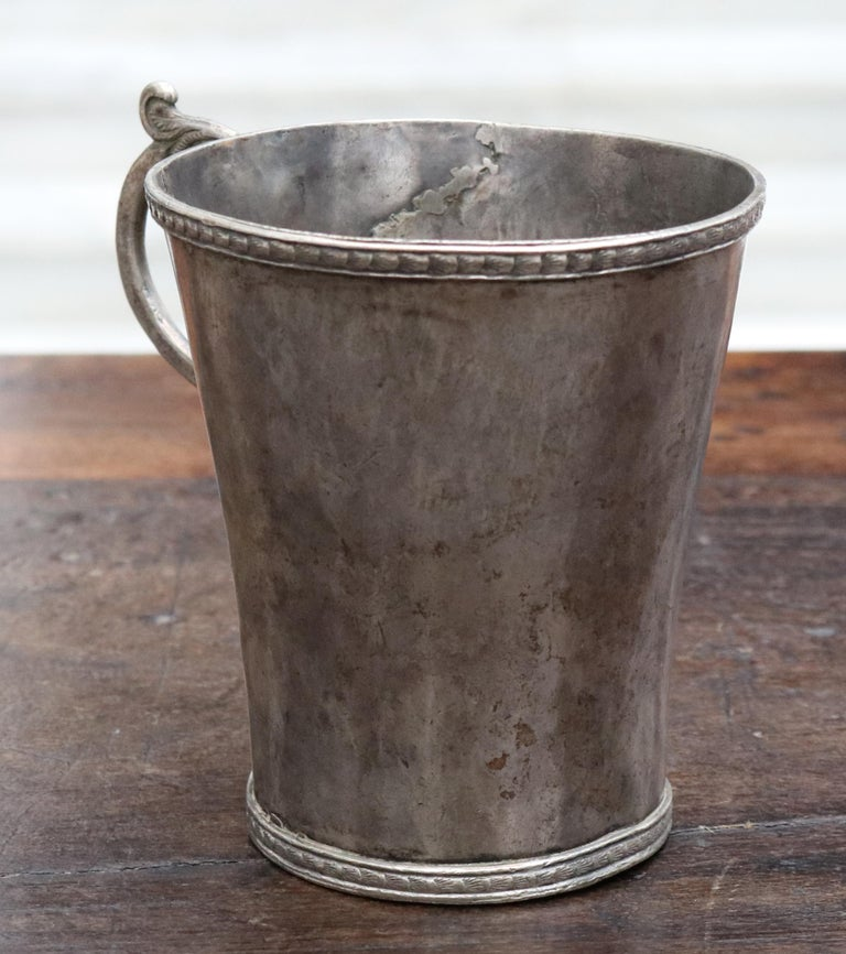 18th-19th Century Bolivian Silver Cup with Handle For Sale 2