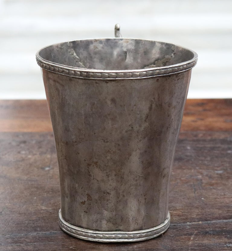 18th-19th Century Bolivian Silver Cup with Handle For Sale 3