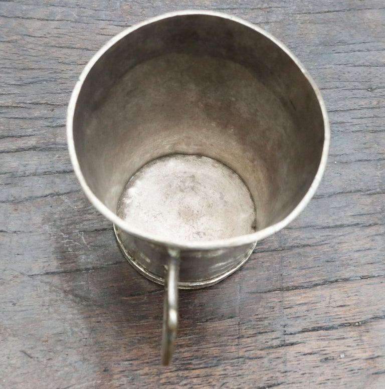 18th-19th Century Bolivian Silver Cup with Handle For Sale 5