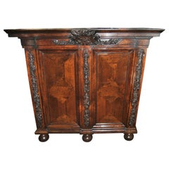 18th-19th Century Carved French Country Armoire