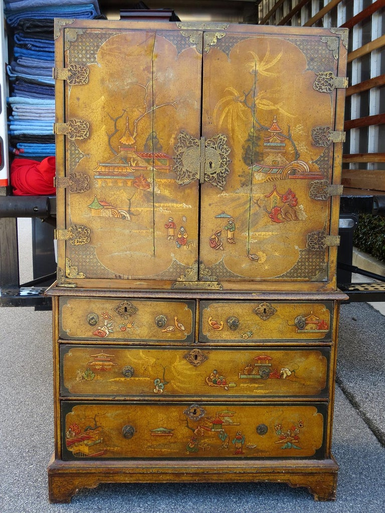 18th-19th century chinoiserie cabinet. Probably English