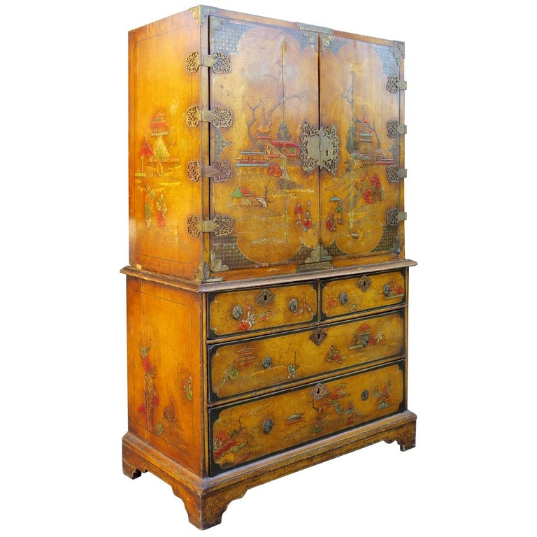 18th-19th Century Chinoiserie Cabinet For Sale