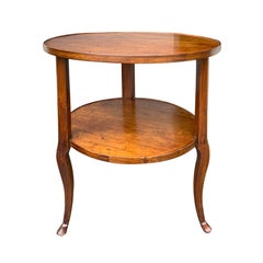 18th-19th Century Continental Round Two-Tier Table with Hoof Feet