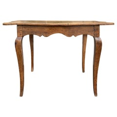 18th-19th Century Early French Small Rectangular Oak Side Table