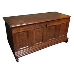 18th-19th Century East Dutch Oak Blanket Chest from the Region Twente
