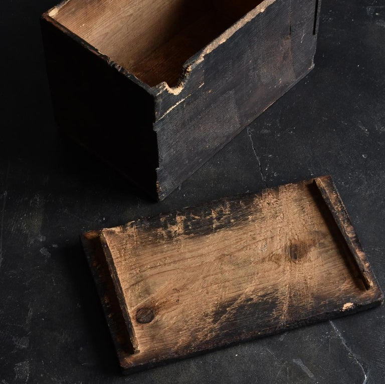 18th-19th Century Edo Period Japanese Wooden Box For Sale 5