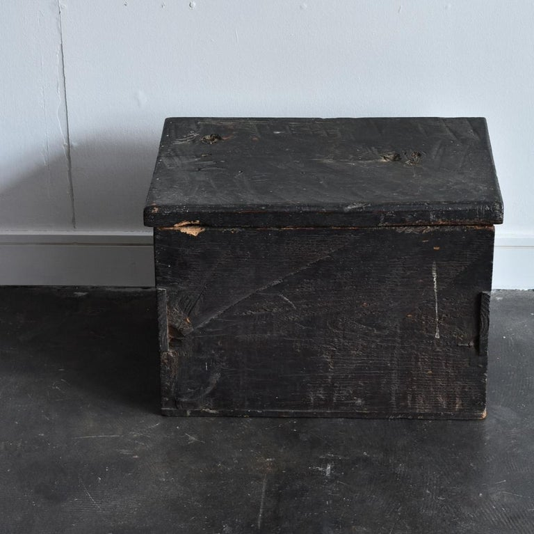 18th-19th Century Edo Period Japanese Wooden Box For Sale 8