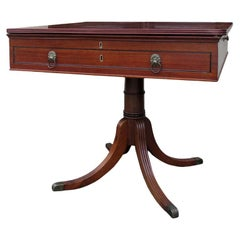 18th-19th Century English Mahogany Architect's Table Converted to Game Table