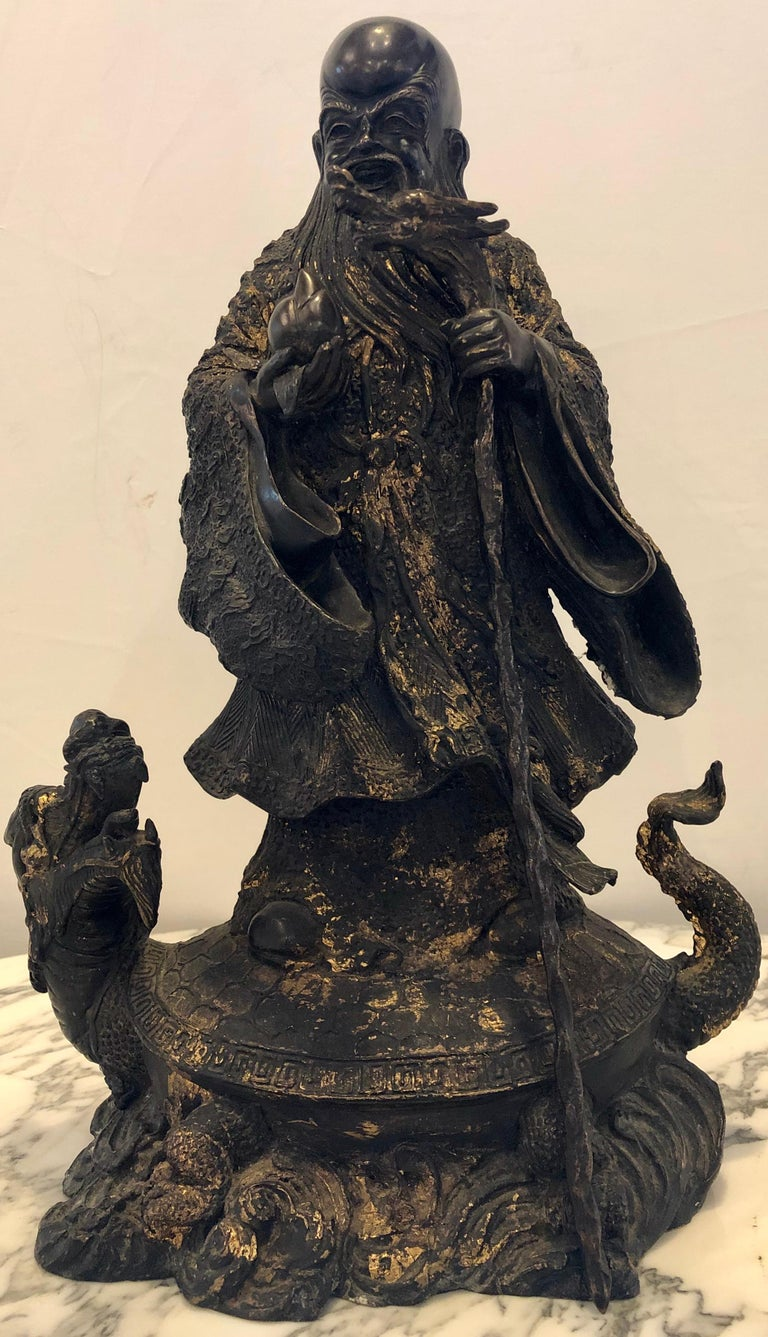 Chinese Export 18th-19th Century Figure One of the Three Gods of Good Fortune For Sale