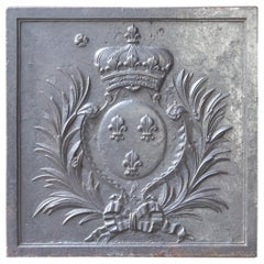 18th-19th Century French 'Arms of France' Fireback