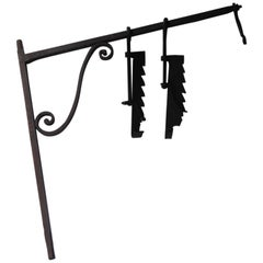 18th-19th Century French Fireplace Crane