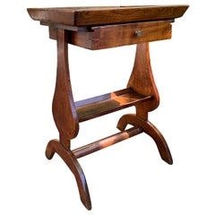 18th-19th Century French Fruitwood Vide Poche Side Table with Drawer