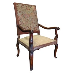 18th-19th Century French Needlepoint Armchair