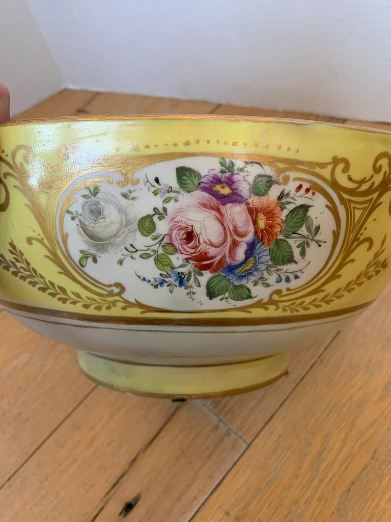 18th-19th Century French Sèvres Porcelain Punch Bowl, Marked 6
