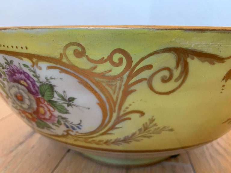 18th-19th Century French Sèvres Porcelain Punch Bowl, Marked 7