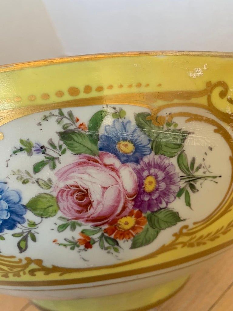 18th-19th Century French Sèvres Porcelain Punch Bowl, Marked 8