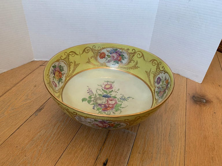 18th Century 18th-19th Century French Sèvres Porcelain Punch Bowl, Marked