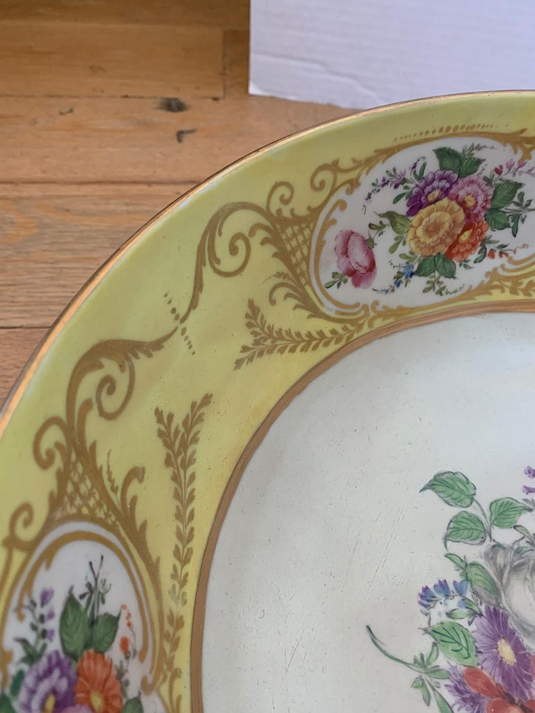 18th-19th Century French Sèvres Porcelain Punch Bowl, Marked 4