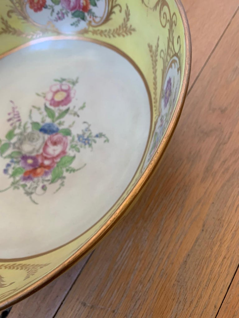 18th-19th Century French Sèvres Porcelain Punch Bowl, Marked 5