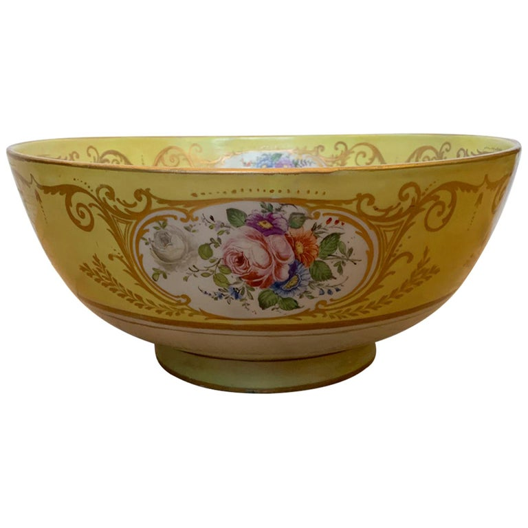 18th-19th Century French Sèvres Porcelain Punch Bowl, Marked