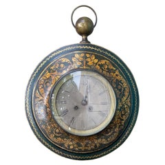 18th-19th Century French Tole Wall Clock