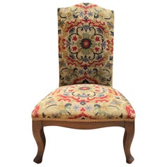 18th-19th Century French Walnut and Needlepoint Child's Chair
