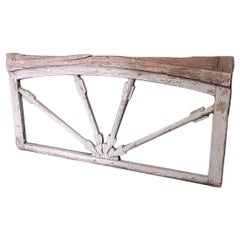 18th-19th Century French Wooden Window Frame with Arrows