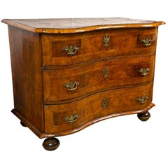 18th-19th Century Fruit Wood Marquetry Inlaid Commode Chest or Bedside Stand