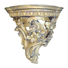18th-19th Century George III Style Large Carved Giltwood Bracket