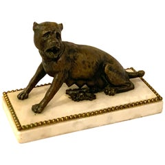18th-19th Century Italian Bronze Sculpture a Seated She-Wolf