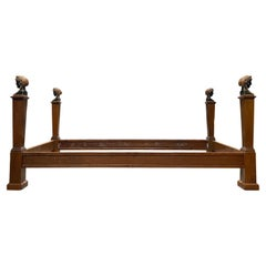 18th-19th Century Italian Directoire Daybed / Bed with Head Finials