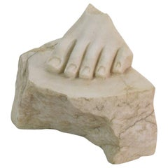 18th-19th Century Italian Marble Fragment of a Foot