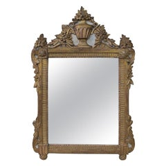 18th-19th Century Italian Neoclassical Painted Parcel Gilt Mirror