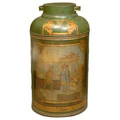 18th-19th Century Jumbo Green Tea Tin