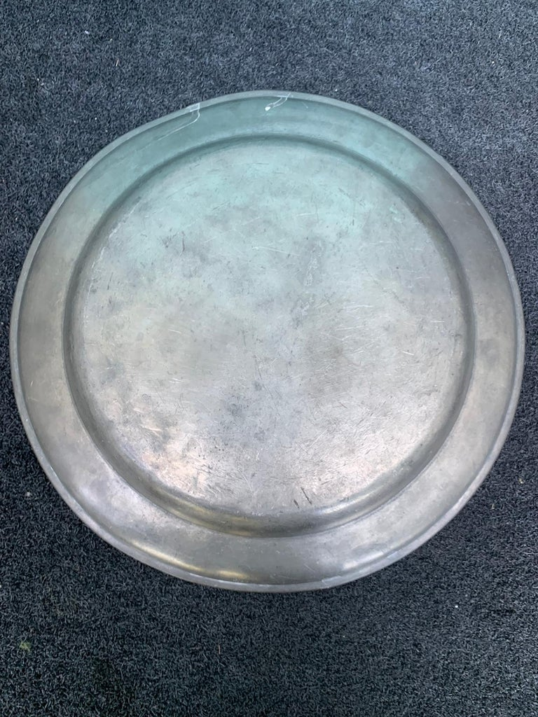 18th-19th Century Pewter Charger For Sale 5