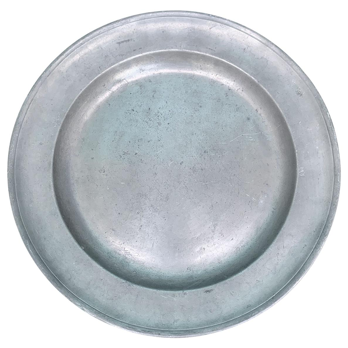 18th-19th Century Pewter Charger