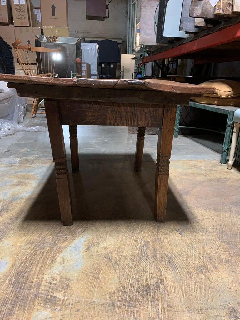 18th-19th Century Primitive Table, Probably French, One Drawer For Sale 10