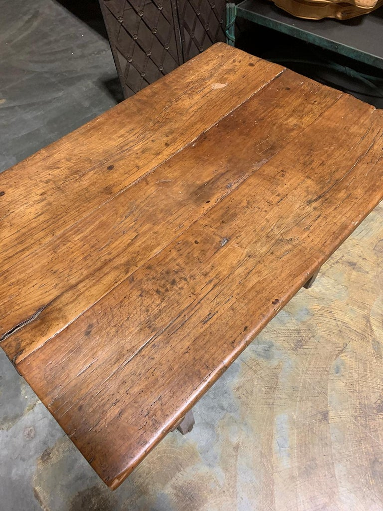 18th-19th Century Primitive Table, Probably French, One Drawer For Sale 2