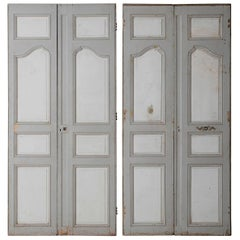 18th and 19th Century French Pair of Louis XV Double Doors in Original Paint