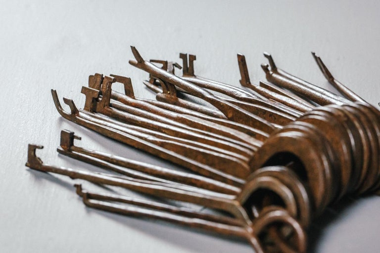 18th and 19th Century Lock Pickers Skeleton Keys For Sale 1